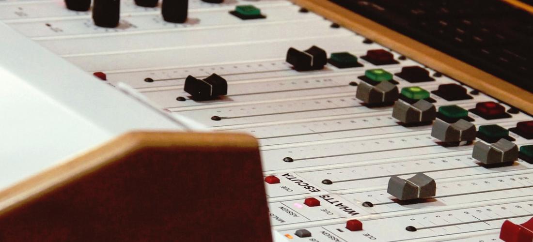 Sound recording desk - Josh Shirt Voiceover